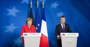 Angela Merkel et Emmanuel Macron lors d'une réunion du Conseil européen, en juin 2017. Photo : European Council - CC BY-NC-ND 2.0
