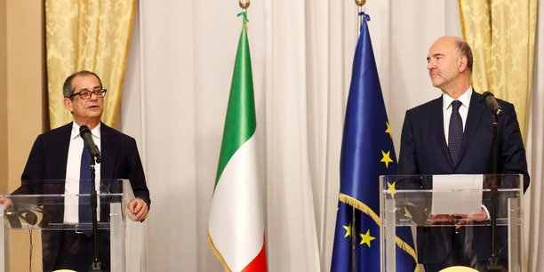 italie-ministre-de-l-economie-giovanni-tria-pierre-moscovici-commission-europeenne-finance