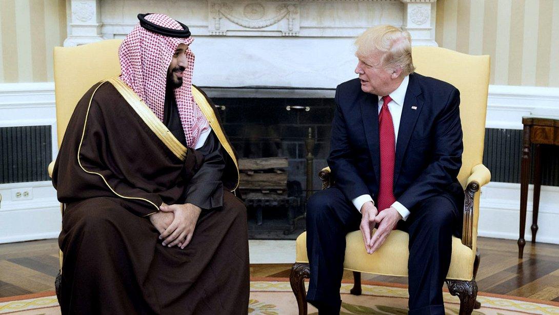 Donald Trump et Mohamed Ben Salman dans le Bureau ovale de la Maison Blanche, 14 mars 2017. Shealah Craighead